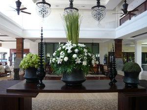 ホテルのロビー花
