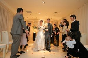 結婚式退場