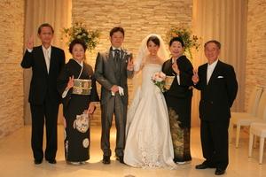 結婚式両親と